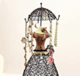 ★ Simply the Best ★ FOX Jewelry Stand™ - Lady Rotating Jewelry Stand★ring, Earring, Necklace, Bracelet Holder Organizer★solid Metal★sturdy Design★ Sustainable Paint★ Easy to Assemble with Great Price