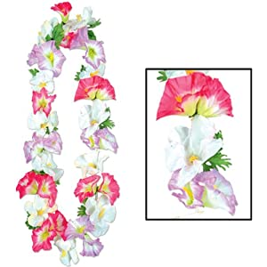Silk 'N Petals Morning Glory Lei (multi-color) Party Accessory  (1 count)