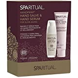 SpaRitual Handprint Hydrating Hand Salve and Hand Serum Duo for Slow Aging