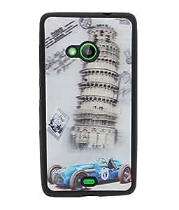 Fuson Premium 3D Visual Effect Silicon Back Case Cover for Microsoft Lumia 535 -12