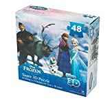 Frozen Super 3D Puzzle - 48 Pieces - Finished Size 18 Inches X 12 Inches - Sure to Please Any Frozen Fan!! by Disney