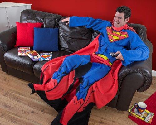 Character World Fleecedecke mit Ärmeln, für Erwachsene, Design Superman, mehrfarbig
