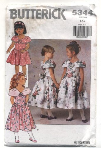 Butterick Toddler Formal Dress Sewing Pattern # 5344 front-376153