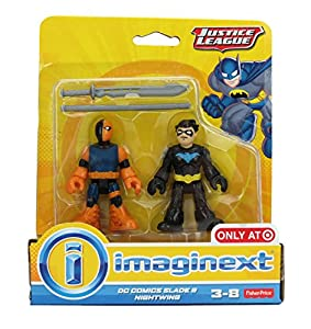 Imaginext, Justice League Exclusive Figures, DC Comics Slade & Nightwing, 2-Pack