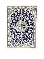 L'Eden del Tappeto Alfombra Nain K Azul / Marfil 87 x 126 cm