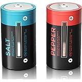Salz- und Pfefferstreuer Set Batterien Gewürzstreuer Salzstreuer Pfeffer Streuer 9 cm