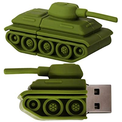 Cnl 8gb Green Army Tank Novelty Usb 2.0 Data Flash Drive Memory Stick Pen Device from Checknet London