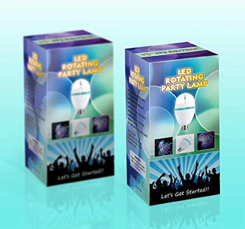Delightime LED Full Color Disco Light Party Light - Amazing Stage DJ Lighting, Auto Rotating & Color Changing, Easy Installation, Excellent Performance - Ideal for Home Party