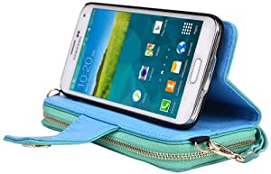 Kroo Magnetic Clutch Wallet for Samsung Galaxy S5 - Frustration-Free Packaging - Teal Green