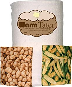 Warm Tater Batting Microwave Potato Bags 100% Cotton 1 yard