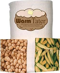Warm Tater Batting Microwave Potato Bags 100% Cotton 1 yard