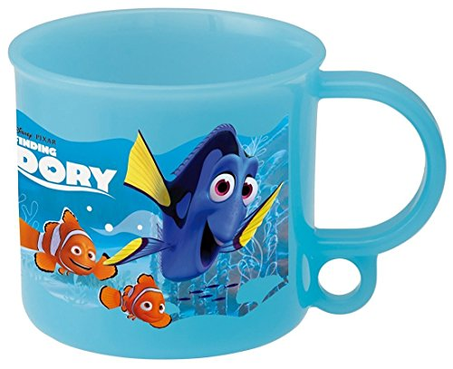 Japan Disney Official Finding Dory - My Best Friend Nemo and Marlin Adorable Blue Coffee Mug with Cute Handle Creative Hanging Hook Classic Character Cover Dinnerware SKATER (Charlie Brown Cake Pan compare prices)
