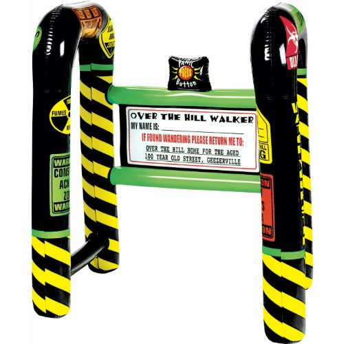 "Amscan Comical ""Over The Hill"" Walker Party Set, Black/Yellow, 31 1/2"" x 26"" x 21 1/2"""