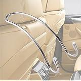 Zone Tech 2 Pack Metal Vehicle Headrest Hooks Premium Quality Car Bag Hanger