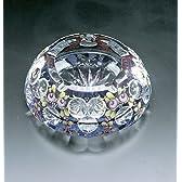 ボヘミアガラス ブルーラスターローズ 灰皿 (70150/87998/6)
