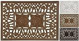 Wandornament Holzornament creme braun dunkelbraun 68x48 cm...