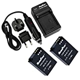 MaximalPower FC500 Nikon ENEL12 Charger and Two Replacement Battery for COOLPIX S1200/S6000/S710/S9100