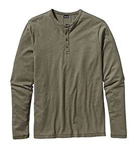 Patagonia Men's Long Sleeve Daily Henley Fatigue Green Large