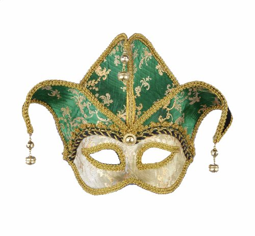 Forum Magic Color Mardi Gras Half Mask With High Crown