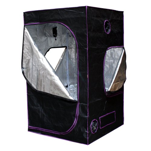 """Apollo Horticulture 48""""X48""""X80"""" Mylar Hydroponic Grow Tent For Indoor Plant Growing"""