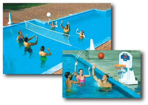 Pool Jam Combo Inground pools Swimline Basketball & Volleyball Sets autotags B000E9WC5S