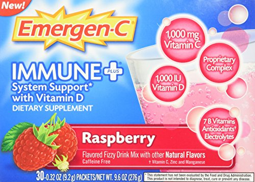 Emergen-C Immune +, Raspberry, 30 Count, Net Wt. 9.6 oz