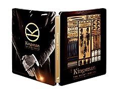 【Amazon.co.jp限定】 KINGSMAN / キングスマン ブルーレイ プレミアム・エディション (初回限定版)(日本オリジナルデザイン ダブルジャケット仕様スチールブック&マシュー・ボーン監督承認待特典付) [Steelbook] [Blu-ray]