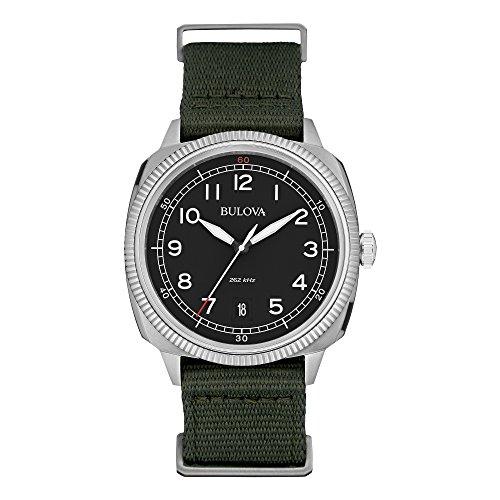 Bulova-Mens-96B229-Analog-Display-Japanese-Quartz-Green-Watch