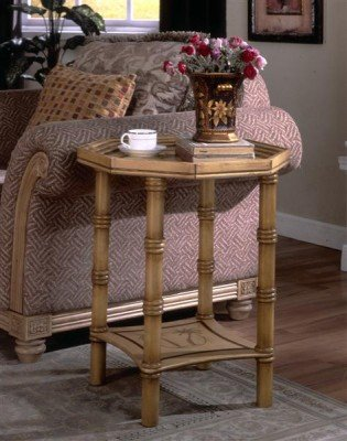 Cheap Fairfax Home Furnishings Antique Gold Tray End Table (B003KZ3W3E)