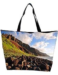 Snoogg Brown Stones Designer Waterproof Bag Made Of High Strength Nylon