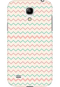 AMEZ designer printed 3d premium high quality back case cover for Samsung Galaxy S4 Mini (zig zag)