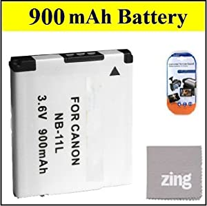 NB-11L Battery For Canon PowerShot Elph 320 HS Digital Camera Battery + LCD Screen Protectors + Micro Fiber Cleaning Cloth