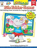 Colorful File Folder Games, Grade PK: Skill-Building Center Activities for Language Arts and Math (Colorful Game Books Series)
