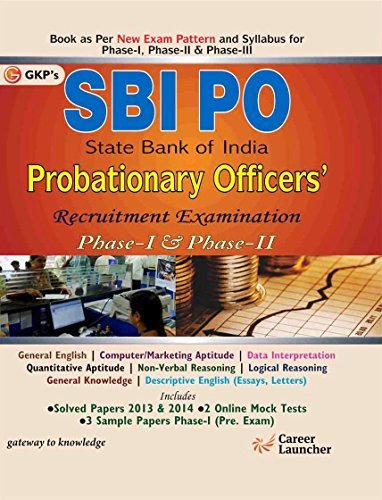SBI Probationary Officer 2015: Phase I & II (As per new pattern) Image