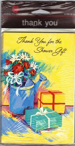 """""""Thank You For The Shower Gift"""" American Greetings 8 Cards With Envelopes front-483201"""