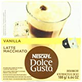 Nescafe Dolce Gusto for Nescafe Dolce Gusto Brewers, Vanilla Latte Macchiato, 16 Count, Garden, Lawn, Maintenance
