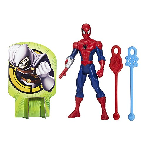 Marvel Ultimate Spider-Man Web Warriors Web Slingers Spider-Man Figure (Spider Web Targets compare prices)