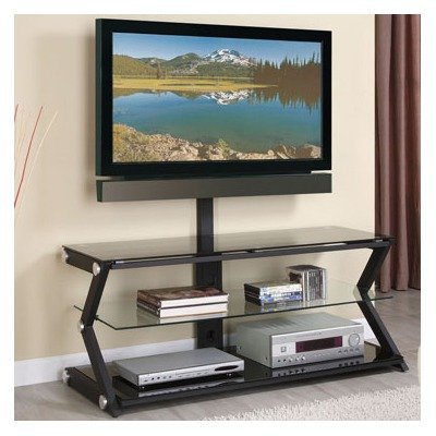 Cheap TV Stand with Bracket in Sandy Black (412-791)