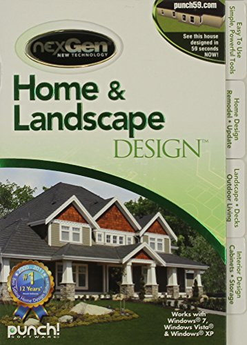 Home landscape design with nexgen technology v3 hardware for Punch home landscape design with nexgen technology