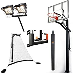 Goalrilla GLR GSIII 54 Basketball System with Deluxe Hoop Light,Ball Return Net, Pole... by Goalrilla