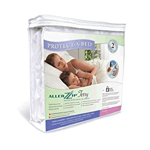 Protect-A-Bed AllerZip Terry Allergy / Bed Bug Free Mattress Protector Twin XL