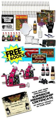 Pink Panther Two Tattoo Machines Kit