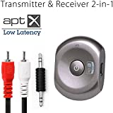 Avantree APTX LOW LATENCY bluetooth transmitter and reciever 2-in-1 switchable adapter for wireless watch tv without LIP SYNC DELAY - Saturn Pro