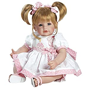 "Adora Cuddly & Weighted 20"" Toddler Doll ""Happy Birthday Baby"" on Eyelet Dress with Cupcake and Candle Patch Blonde Hair/Blue Eyes- Ages 6+"