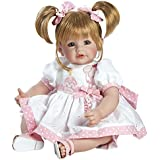 """Adora Cuddly & Weighted 20"""" Toddler Doll """"Happy Birthday Baby"""" on Eyelet Dress with Cupcake and Candle Patch Blonde Hair/Blue Eyes- Ages 6+"""