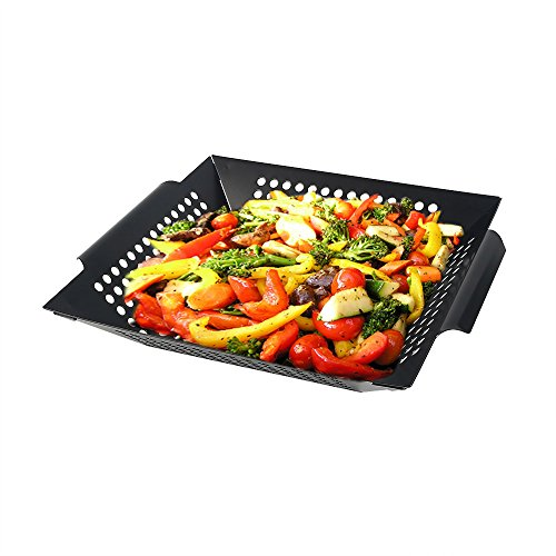 Arctic Monsoon Stainless Steel Non-Stick Grilling Basket, Black (Grill Sauce Rack compare prices)