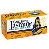 Good Earth Teas, Jasmine Green Tea, Jasmine Flowers, 25 Wrapped Tea Bags, 1.80 oz (51 g)