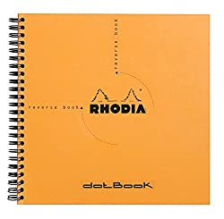 Rhodia Orange Dot Notepad - Reverse Book - 210 mm x 210 mm