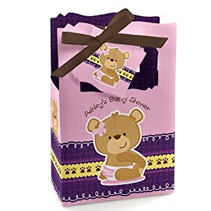 baby girl teddy bear personalized baby shower favor