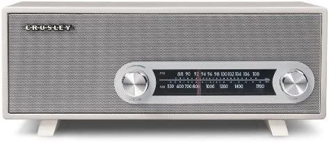 Crosley CR3022A-WH Ranchero AM/FM Radio Kompatibel mit iPod, iPhone, Smartphone und MP3 Player (UK-Netzstecker) - Weiß